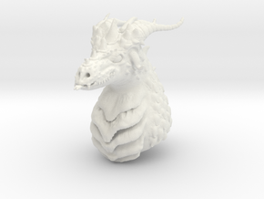 Dragon bust in White Natural Versatile Plastic