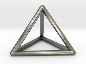 Pyramid / Triangle Ring in Polished Silver