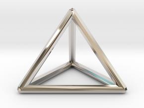 Tri-Ring (Medium) in Rhodium Plated Brass