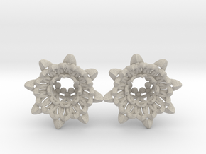 """The Chrysanthemums Plugs /gauge /size1/2""""(12mm) in Natural Sandstone"""