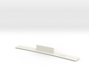 ME83-38R Curve Template HO Scale in White Natural Versatile Plastic