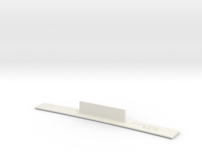 ME83-52R Curve Template HO Scale in White Natural Versatile Plastic
