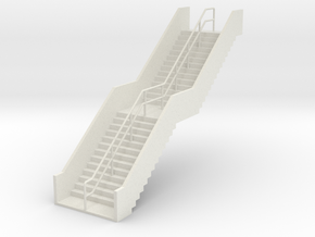 HO Stairs H62mm in White Strong & Flexible