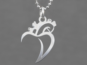Cuore 1 in Polished Silver