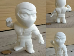 Extra Large Ninja in White Processed Versatile Plastic