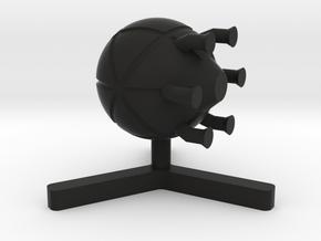 NC Pirate Raider 8 in Black Natural Versatile Plastic