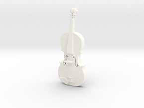 Violin 1/2 Size in White Processed Versatile Plastic