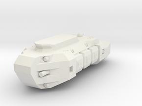 1/1000 Scale Transport Hauler in White Natural Versatile Plastic