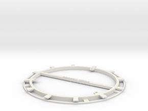 RFID Bobbin 150mm in White Natural Versatile Plastic