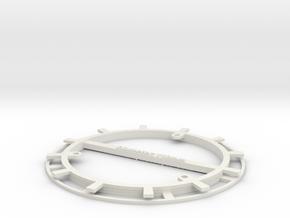 RFID Bobbin 110mm in White Natural Versatile Plastic