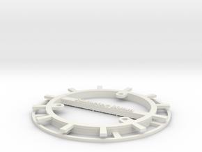 RFID Bobbin 80mm in White Strong & Flexible