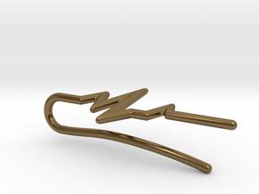 Heartbeat tie bar in Polished Bronze