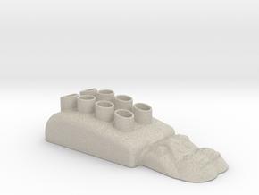 Hippopotamus-3 Pencil Case in Natural Sandstone