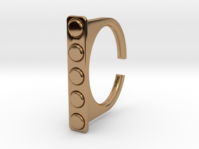 Ring 1-4 in Polished Brass
