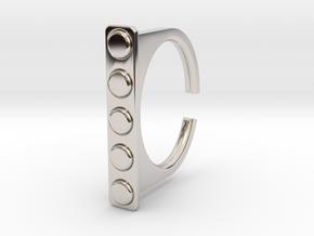 Ring 1-4 in Rhodium Plated Brass