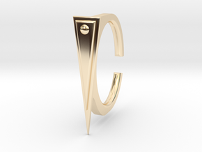 Ring 2-2 in 14k Gold Plated Brass