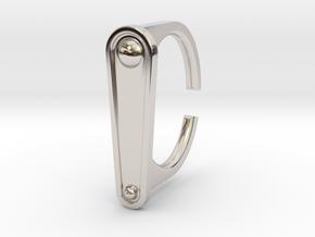 Ring 5-2 in Rhodium Plated Brass