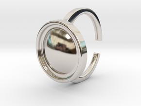 Ring 4-4 in Rhodium Plated Brass