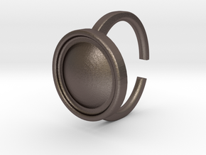 Ring 4-4 in Polished Bronzed Silver Steel