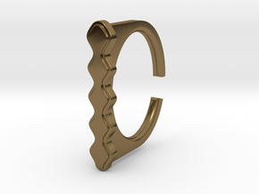 Ring 5-5 in Polished Bronze