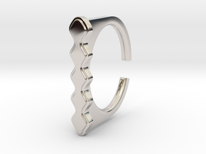 Ring 5-5 in Rhodium Plated Brass