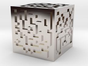 Maze cube in Platinum