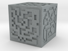 Maze cube in Polished Metallic Plastic