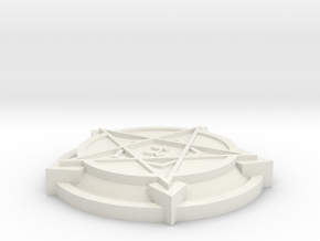 28mm/32mm Demon Summoning Circles Small  in White Strong & Flexible