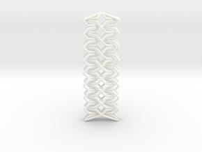 YOUNIC Fabric, Straight Pendant in White Processed Versatile Plastic