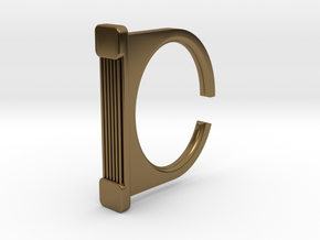 Ring 1-7 in Polished Bronze