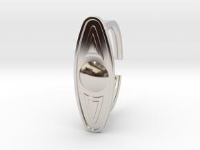 Ring 5-6 in Rhodium Plated Brass