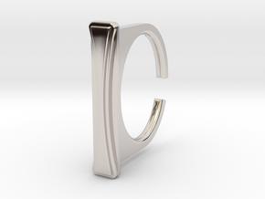 Ring 1-8 in Rhodium Plated Brass