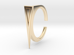 Ring 2-7 in 14k Gold Plated Brass