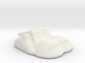Hippopotamus-2 Necklace / Pendant in White Natural Versatile Plastic