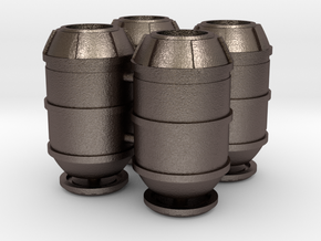 DeAgo Falcon Main Hold Floor Big Barrels With Lids in Polished Bronzed Silver Steel