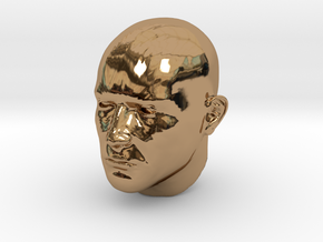 1/4 scale Highly detailed head figure Tete visage  in Polished Brass
