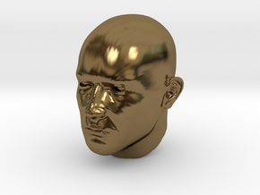 1/6 scale Highly detailed head figure Tete visage  in Polished Bronze