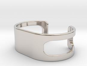 Bracelet, size 2, embossed - 55x26 in Platinum