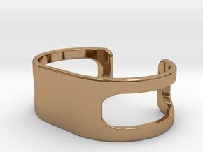 Bracelet, size 2, embossed - 55x26 in Polished Brass