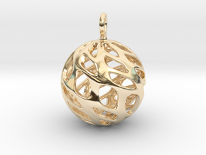 Sphere Pendant in 14k Gold Plated Brass