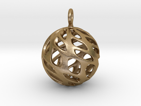 Sphere Pendant in Polished Gold Steel