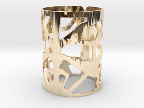 C9yj in 14k Gold Plated Brass