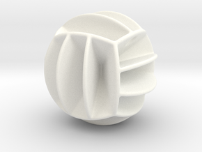 DRAW pendant - volleyball style 1 in White Processed Versatile Plastic