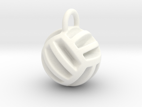 DRAW pendant - volleyball style 2 in White Processed Versatile Plastic