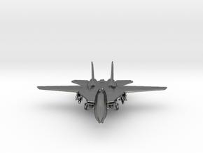 F14 grumman Jet in Polished Silver