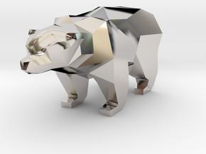 A Bear  - 5cm in Platinum