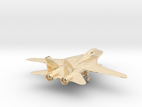 F14 grumman jet gold & precious materials small in 14k Gold Plated Brass