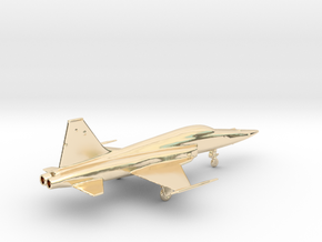 Jet F5 Tiger gold & other precious materials in 14k Gold Plated Brass