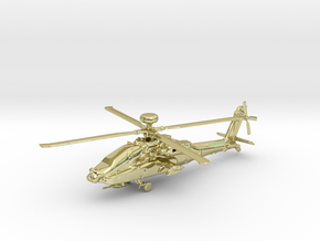 Helicopter Apache Ah-64 Gold & precious materials in 18k Gold Plated Brass