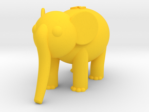 Elephant (Nikoss'Animals) in Yellow Processed Versatile Plastic